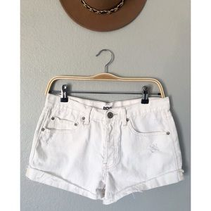Urban Outfitters BDG White Tomgirl Shorts
